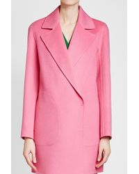 Theory - Pink Wool Coat - Lyst