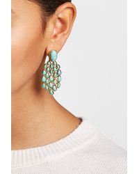 Aurelie Bidermann - Metallic 18kt Gold Plated Lapis Lazuli Earrings - Lyst