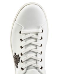 Dolce & Gabbana - Multicolor Leather Sneakers With Embroidered Patch for Men - Lyst