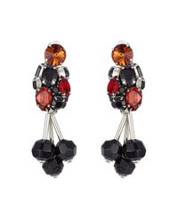 Marni - Black Embellished Earrings - Lyst
