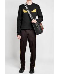 Fendi - Black Printed Fabric Shoulder Strap for Men - Lyst