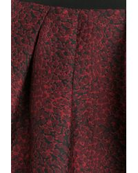 Burberry - Red Pleated Jacquard Skirt - Lyst