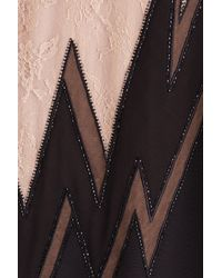 Emilio Pucci - Black Embellished Silk Dress With Lace - Lyst