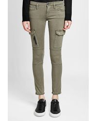 True Religion - Green Cargo Pants With Cotton - Lyst