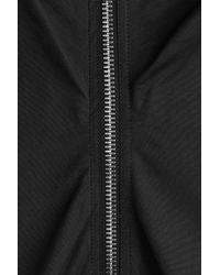Rick Owens - Black Gathered Dress With Zipper - Lyst