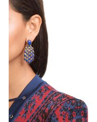 Aurelie Bidermann - Blue 18kt Gold Plated Lapis Lazuli Earrings - Lyst