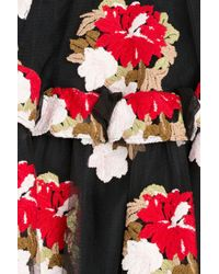 Simone Rocha | Black Embroidered Tulle Skirt | Lyst