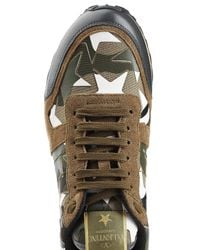 Valentino | Multicolor Rockstud Leather And Suede Sneakers for Men | Lyst