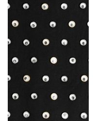 Marc By Marc Jacobs - Black Googley Eye Embellished Zipped Cotton Hoody - Lyst