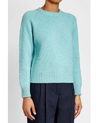 A.P.C. - Blue Wool Pullover - Lyst