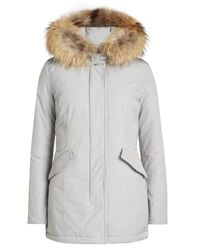 Woolrich   Multicolor Arctic Down Parka With Fur-trimmed Hood   Lyst