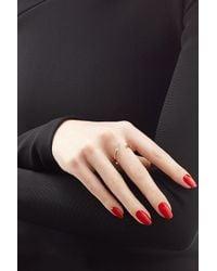 Sophie Bille Brahe - Metallic Fleur Marriage 18kt Gold Ring With White Diamonds - Lyst