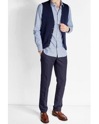 Baldessarini | Blue Printed Cotton Shirt for Men | Lyst