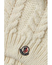 Moncler - Natural Hat With Wool And Alpaca - Lyst