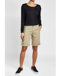 Woolrich - Natural Cuffed Cotton Shorts for Men - Lyst