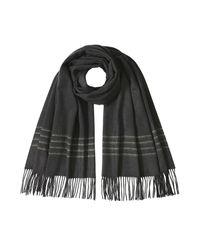 Rag & Bone - Black Merino Wool Scarf - Lyst