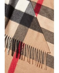 Burberry - Multicolor Printed Cashmere Scarf - Lyst