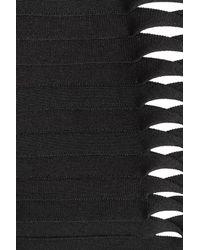 Hervé Léger - Black Bandage Swimsuit With Cut Out Detail - Lyst