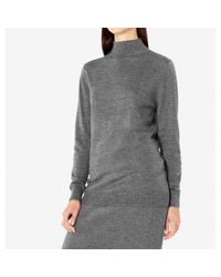 Sunspel | Multicolor Women's Fine Merino Wool Turtle Neck Jumper In Charcoal Mouline | Lyst
