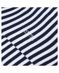 Sunspel - Black Men's Mercerised Cotton Socks In White / Navy for Men - Lyst