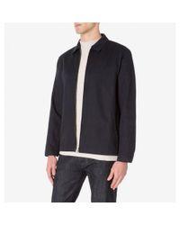 Sunspel - Blue Men's Cotton Linen Harrington Jacket In Navy for Men - Lyst