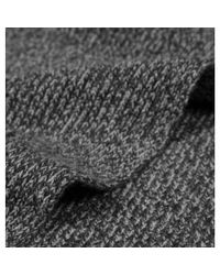 Sunspel - Gray Cashmere Wool Scarf In Charcoal Marl - Lyst