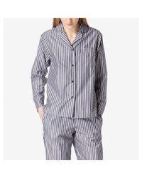 Sunspel - Blue Women's Striped Chambray Pyjama Top In Navy / White - Lyst