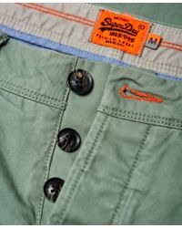 Superdry - Green Rookie Chino Trousers for Men - Lyst