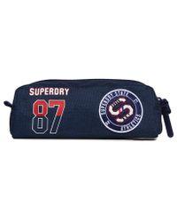 Superdry - Blue Stadium Pencil Case for Men - Lyst