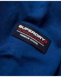 Superdry - Blue International Henley Top for Men - Lyst