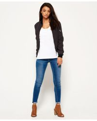 Superdry - Blue Dust Quilt Bomber Jacket - Lyst