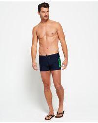 Superdry | Blue Swim Sport Midi Trunk for Men | Lyst