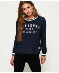 Superdry - Blue Brentwood Sweater - Lyst