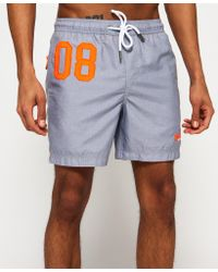 Superdry - Gray Waterpolo Swim Shorts for Men - Lyst