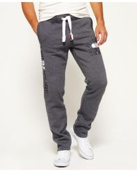 Superdry   Gray Trackster Non Cuffed Joggers for Men   Lyst
