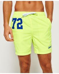 Superdry   Green Premium Water Polo Shorts for Men   Lyst