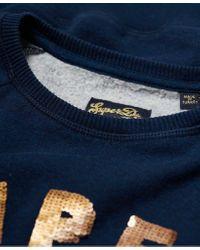 Superdry Blue Alice Cold Shoulder Crew Sweatshirt