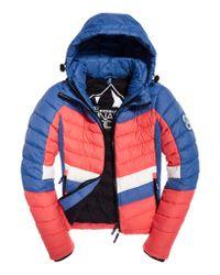 Superdry - Blue Offshore Chevron Fuji Jacket - Lyst