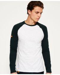 Superdry - Green Orange Label Grit Baseball T-shirt for Men - Lyst