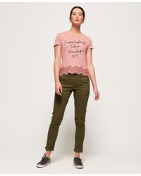 Superdry Pink Somertrees Lace T-shirt
