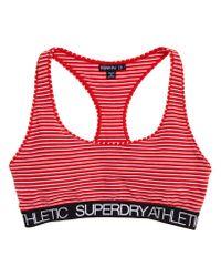 Superdry - Red Athletic Bralet - Lyst