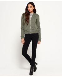 Superdry - Green Orange Label Micro Jersey Luxe Bomber - Lyst