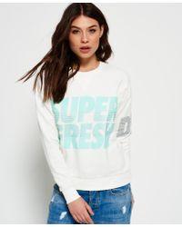 Superdry - White Freshness Crew Neck Jumper - Lyst
