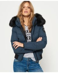 Superdry - Blue Everest Ella Bomber Jacket - Lyst