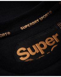 Superdry - Black Gym Tech Gold Supercrew Jumper - Lyst