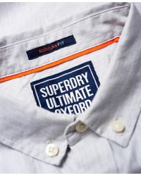 Superdry - Gray Ultimate Pinpoint Oxford Shirt for Men - Lyst