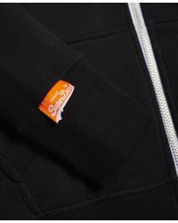 Superdry - Black Orange Label Primary Zip Hoodie - Lyst