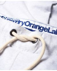 Superdry - Gray Orange Label Slim Lite Sweatpants for Men - Lyst