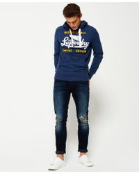 Superdry - Blue Limited Icarus Lite Hoodie for Men - Lyst
