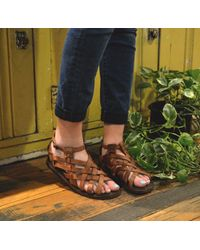 Sutro - Brown Montgomery Sandal Chedron - Lyst